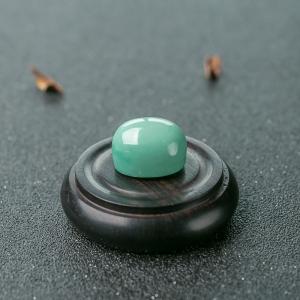中高瓷蓝绿松石蛋面形戒面