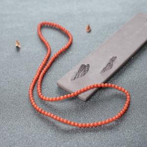 4.5mm柿子红南红珠链