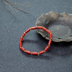 沙丁珊瑚随形单圈手串
