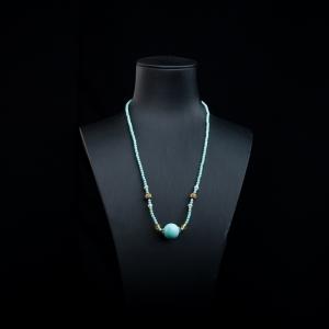 中瓷藍綠松石項鏈