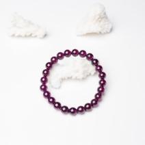 7mm紫色石榴石单圈手串