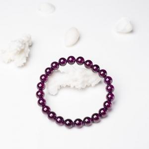 7.5mm紫色石榴石单圈手串