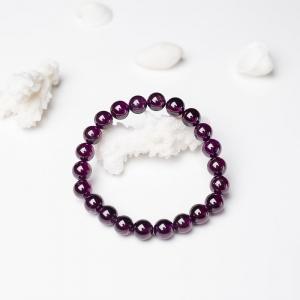 8mm紫色石榴石单圈手串