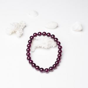 7mm紫红石榴石单圈手串