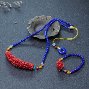 沙丁珊瑚编织套装(两件)