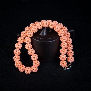 MISU粉色珊瑚項鏈