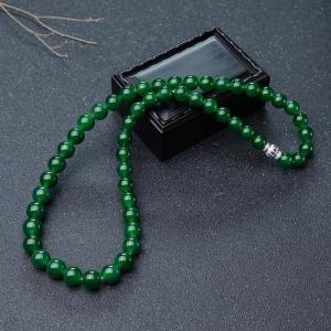 糯冰種深綠翡翠塔鏈