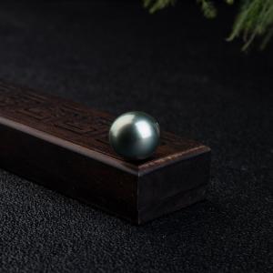 16.5mm海水深灰椭圆珍珠单颗裸珠