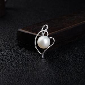 12.4mm18k海水白色正圆珍珠吊坠