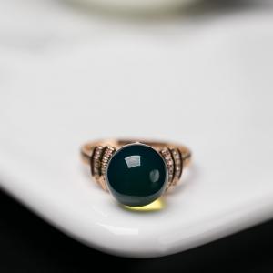 18K多米蓝珀戒指