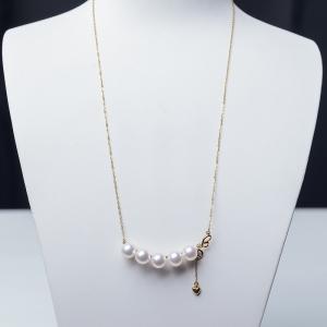 18K海水白色珍珠锁骨链