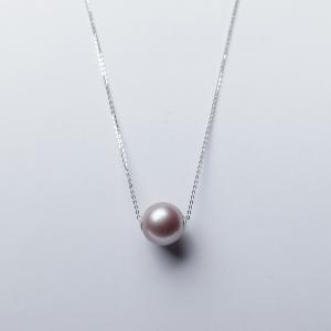 18K淡水紫色珍珠项链