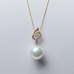 18K淡水白色珍珠吊坠