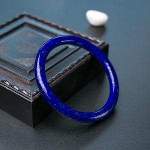 60.5mm深蓝色青金石圆镯