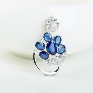 18k蓝色蓝宝石吊坠