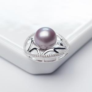 银镶淡水紫色珍珠吊坠