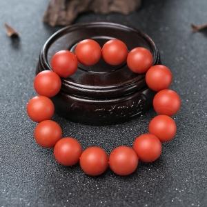 15mm柿子红南红单圈手串