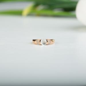18k玻璃種隨形翡翠戒指