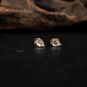 18k玻璃種翡翠耳釘