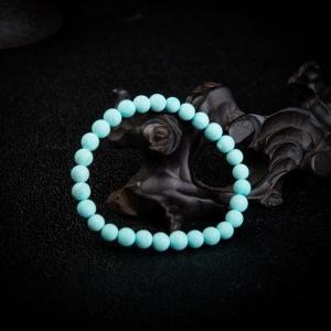 中瓷蓝绿松石单圈手串