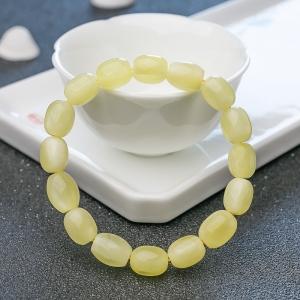 檸檬黃蜜蠟米珠單圈手串