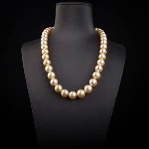 海水金色珍珠項鏈