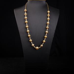 18k海水金色珍珠项链