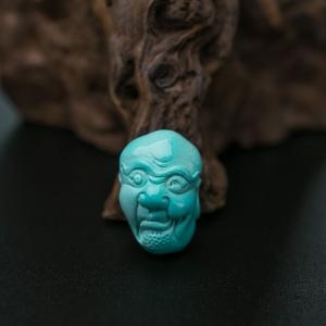 高瓷蓝绿松石罗汉配件