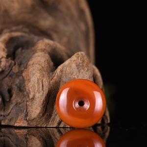 柿子红南红平安扣吊坠