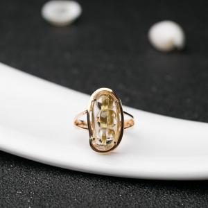18K钛晶福豆戒指