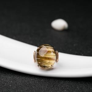 18K钛晶戒指