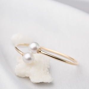 58mm18K海水白色珍珠手镯