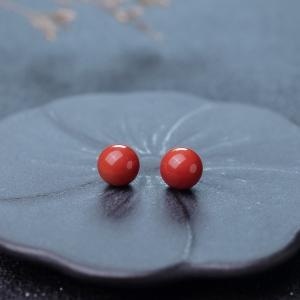 10mm沙丁珊瑚圆珠(两件)