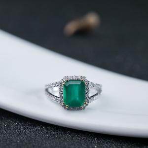 18K祖母绿戒指
