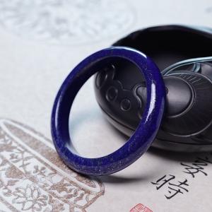 58mm深蓝色青金石平安镯