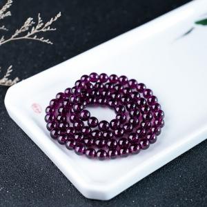 6.5mm紫色石榴石多圈手串