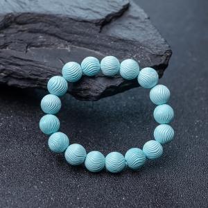11mm中高瓷淺藍綠松石單圈手串