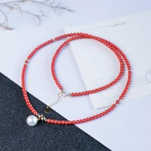 18K淡水白色珍珠项链