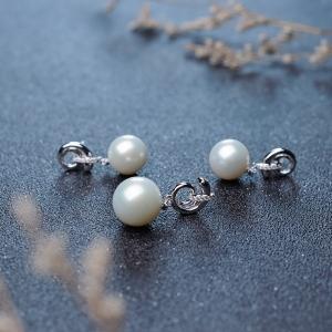 18K淡水白色珍珠套装