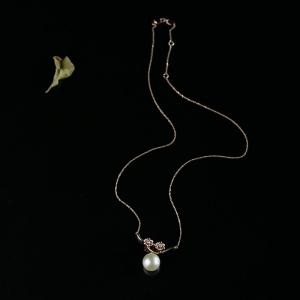 18K海水金色珍珠項鏈