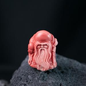 MOMO珊瑚寿公吊坠