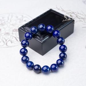 14mm深藍色青金石單圈手串
