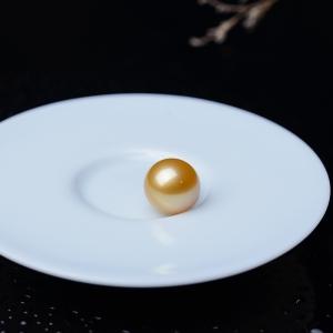 14mm海水金色珍珠圓珠