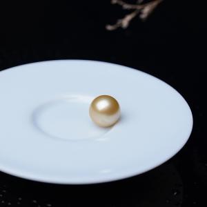 13mm海水金色珍珠圆珠