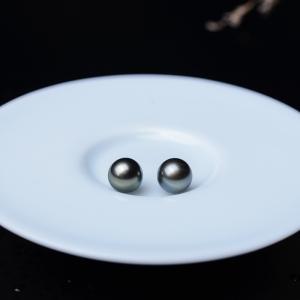 8.5mm海水黑色珍珠圆珠