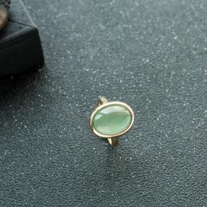 18K糯冰種晴水翡翠戒指