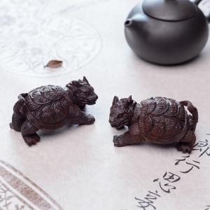 小叶紫檀龙龟摆件(两件)