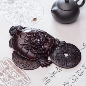 小叶紫檀龙龟摆件