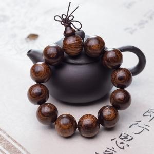 20mm越南虎皮紋黃花梨單圈手串