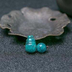 中高瓷乌兰花蓝绿绿松石套装(两件)